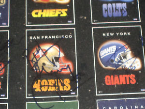 NFL POSTER SIGNED BY 17 PLAYERS 1990'S ERA