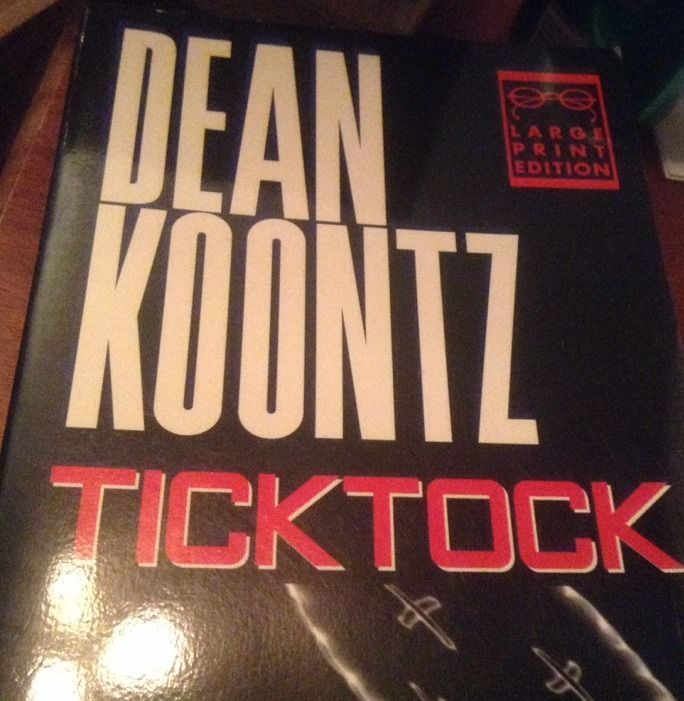 Tick Tock SIGNED by Dean Koontz 1ST/1ST (1997, Paperback, Large Type)