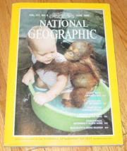 Magazine National Geographic Vol 157 No 6 June 1980  Living With Orangutans - $8.00