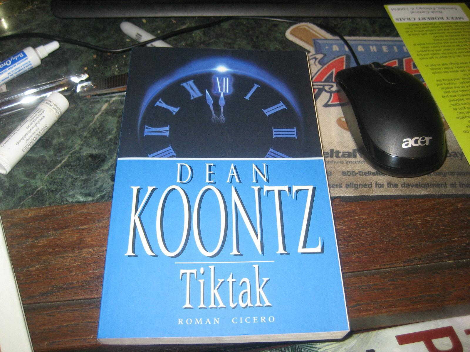 TICKTOCK  (TIKTAK) SIGNED BY DEAN KOONTZ RARE 1ST/1ST DENMARK