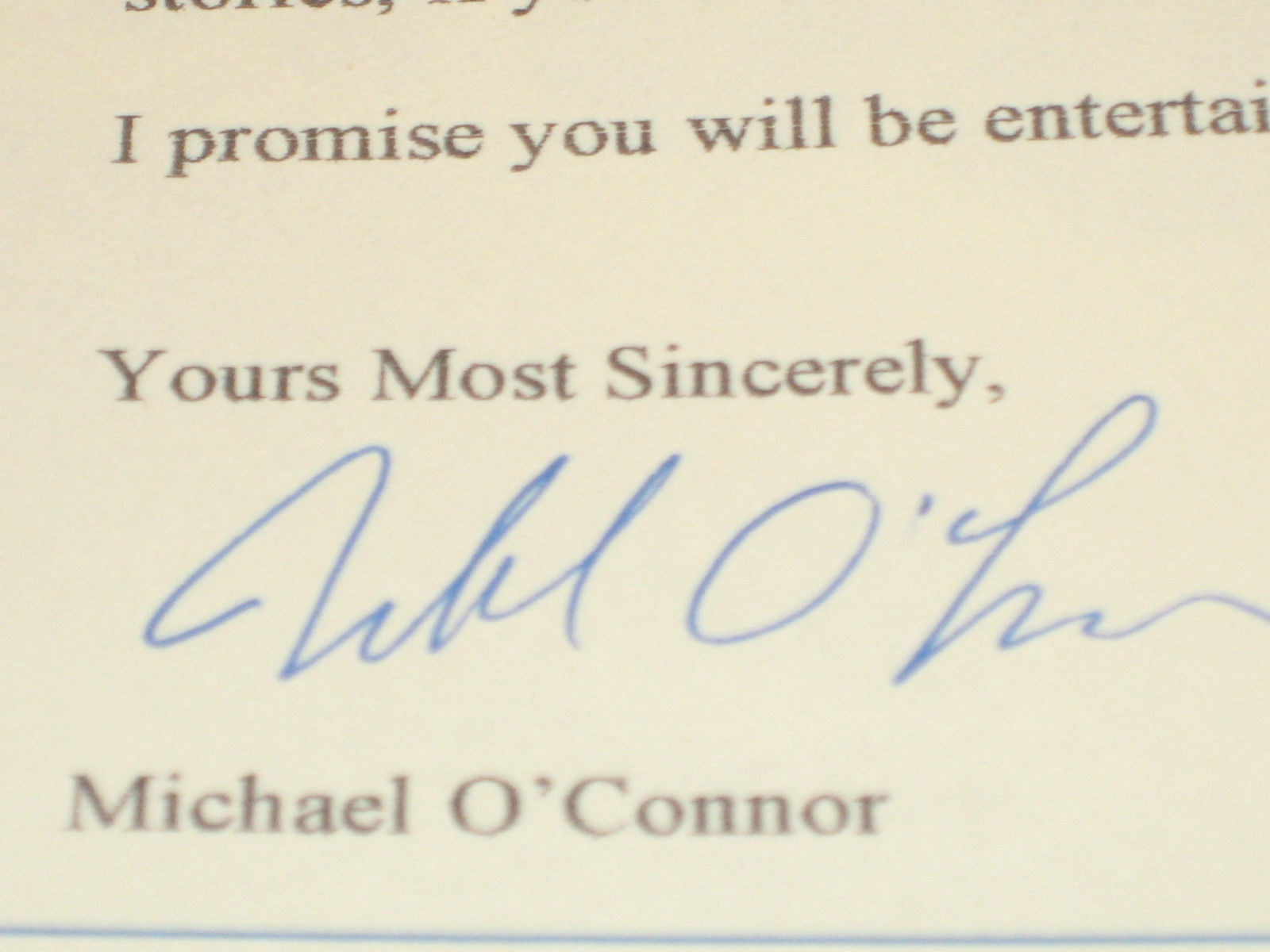 Sermon on the Mound: Finding God SIGNED  by Michael O'Connor 1ST W/ BONUS
