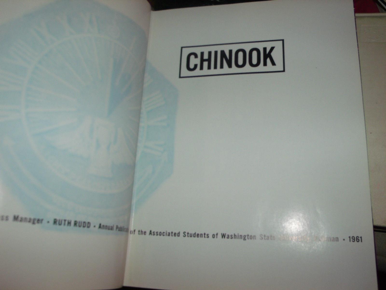 CHINOOK 1961 WASHINGTON STATE UNIVERSITY YEARBOOK