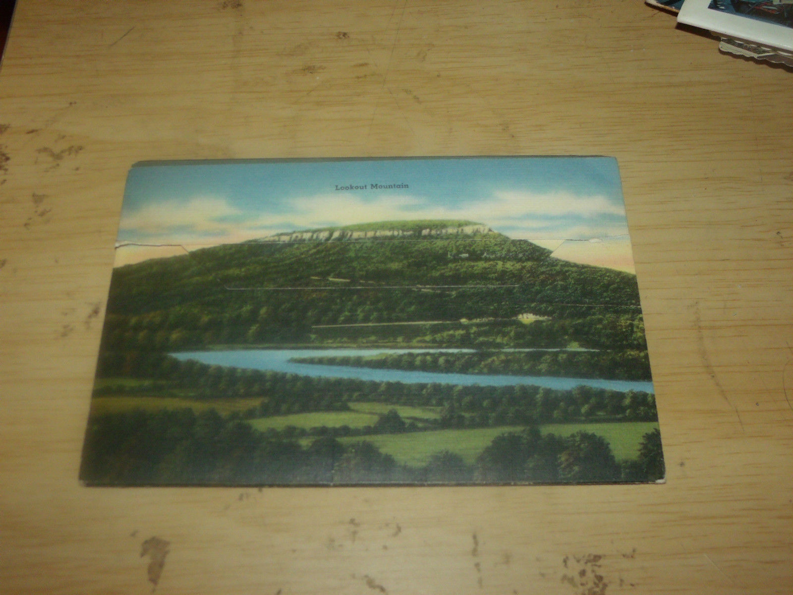 VIEWS OF POINT LOOKOUT MOUNTAIN  CHATTANOOGA VINTAGE UNUSED FOLDOUT POSTCARD