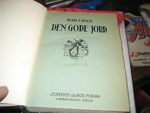 PEARL S BUCK DEN GODE JORD 1933 NORWEGIAN BOOK LEATHER