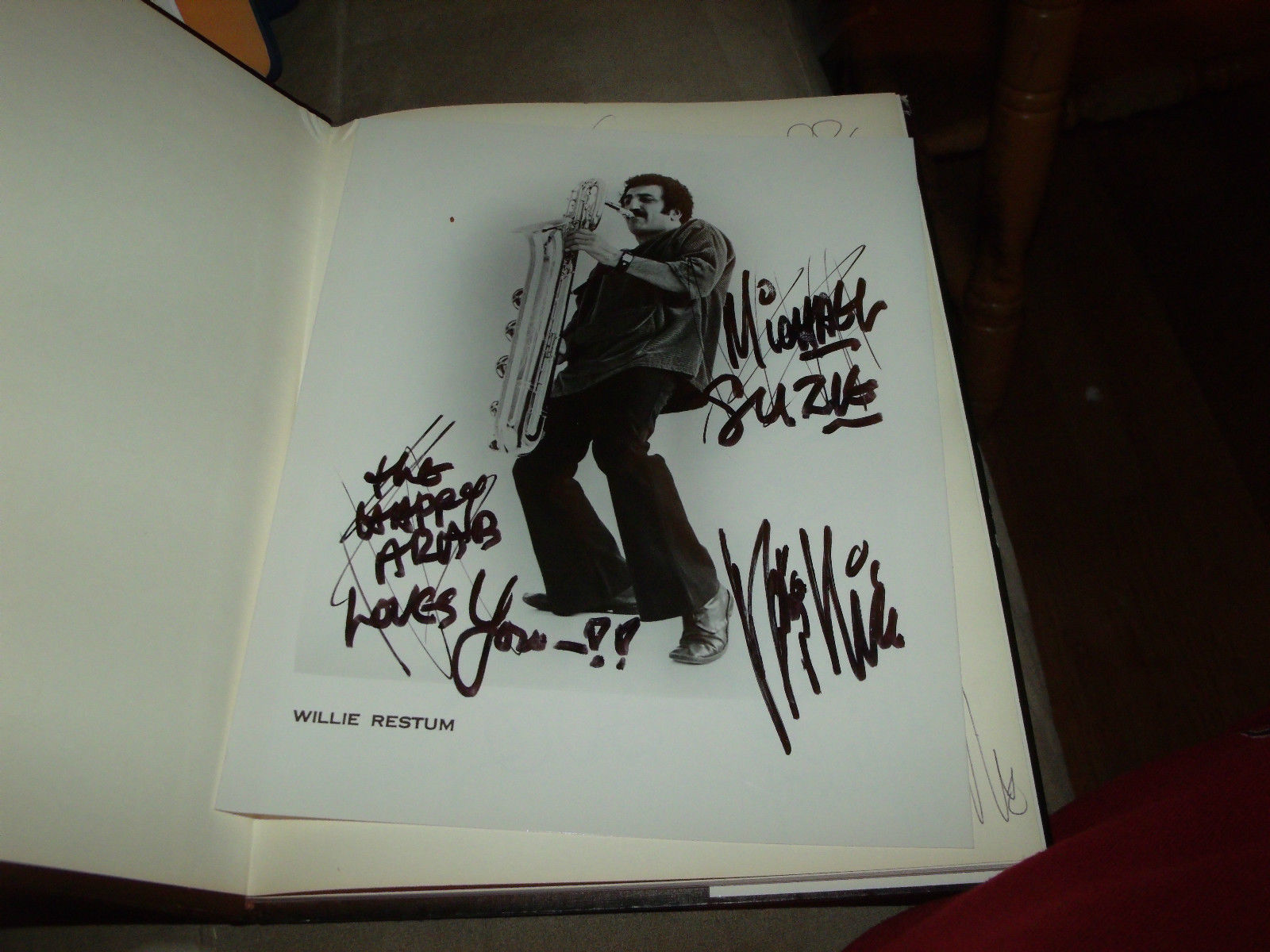 THEY ALL CAME TO SEE ME SIGNED BY WILLIE RESTUM 1ST EDITION SCARCE + SIGNED 8X10