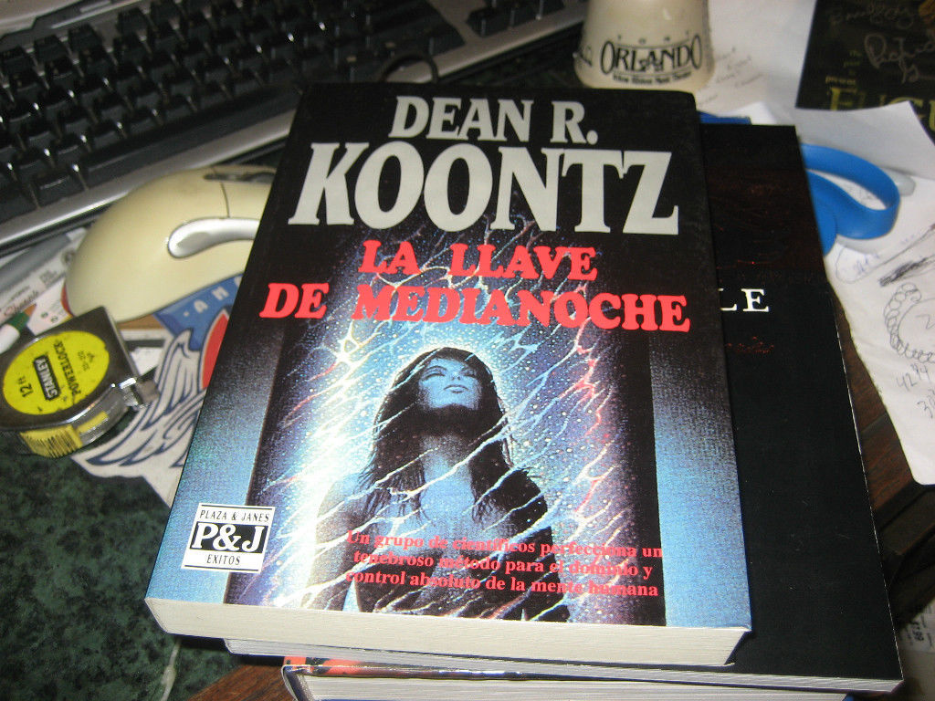 THE KEY TO MIDNIGHT SIGNED by Dean Koontz 1ST/1ST 1992 PB BARCELONA SPAIN