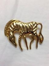 Vintage Zebra Pin GoldTone - $10.00
