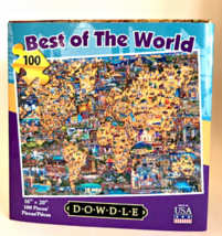 Dowdle Jigsaw Folk Art Puzzle Best of the World 100 Pieces 16 x 20 Made ... - $14.84