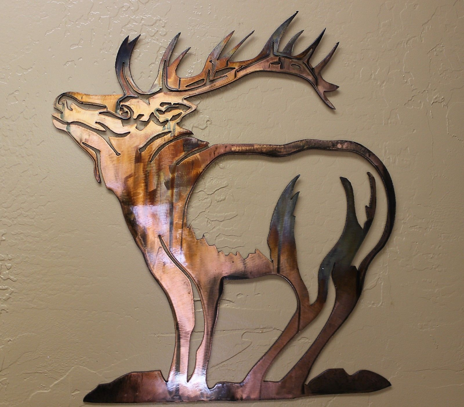 """Standing Strong """"Elk"""" Metal Wall Art by HGMW"""