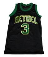 Allen Iverson #3 Bethel High School New Men Basketball Jersey Black Any ... - $44.99+