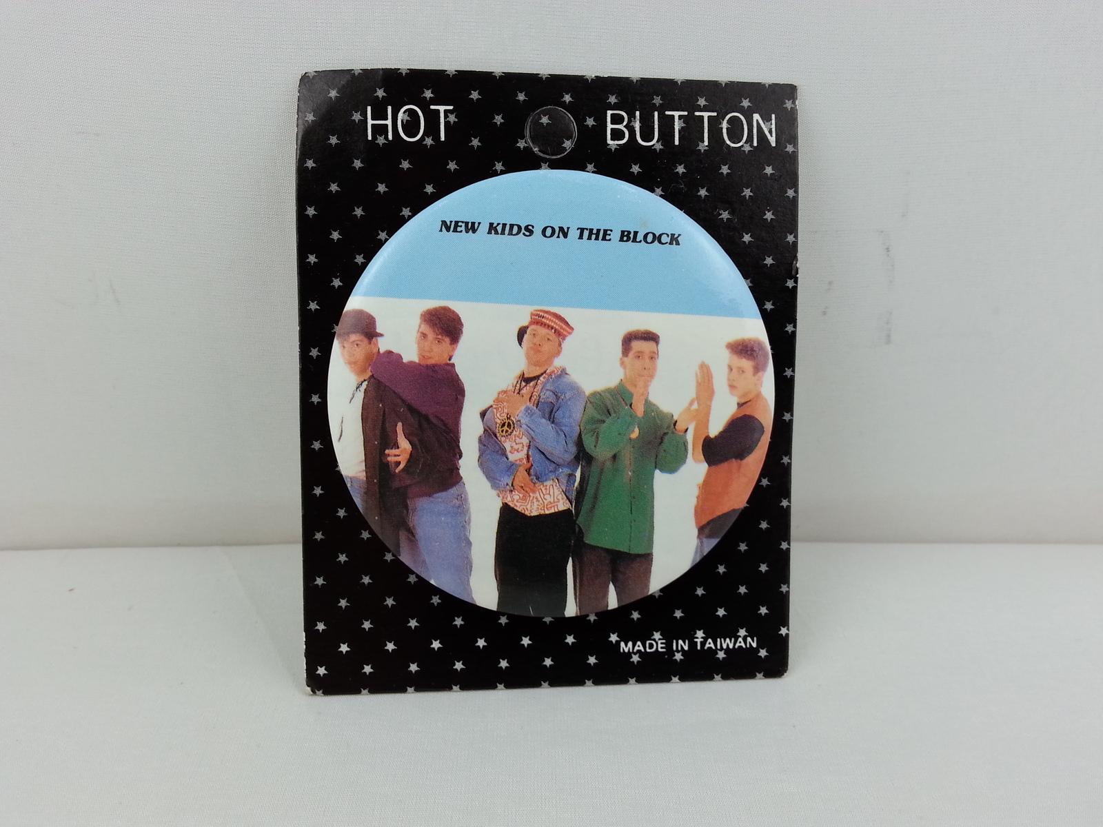 Retro New Kids on the Block Button - Still on Original Card -- Unique