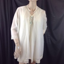 Vtg Vanity Fair Babydoll Nightgown Sheer Robe Peignoir Set Bridal Blue R... - $49.01