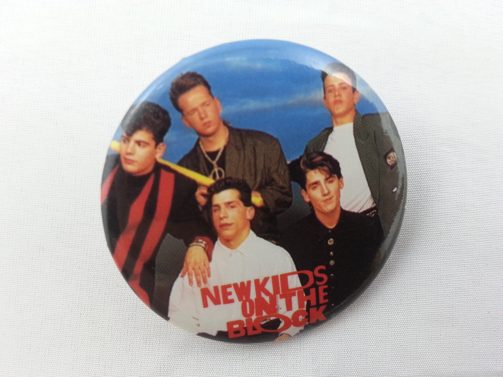 Retro New Kids on the Block Button - Featuring the Entire Group - Prepped Out !