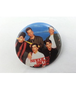 Retro New Kids on the Block Button - Featuring the Entire Group - Preppe... - $12.00