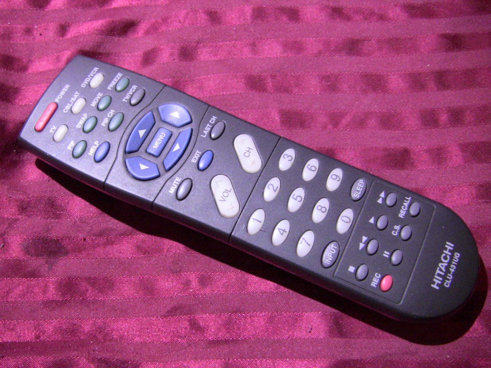 ORIGINAL HITACHI TV REMOTE CONTROL CLU-431UG HL01421