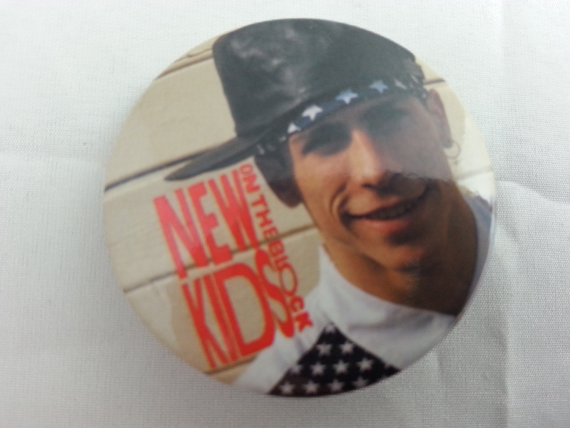 Retro New Kids on the Block Button -  Danny in his USA Outifit -With Leather Hat
