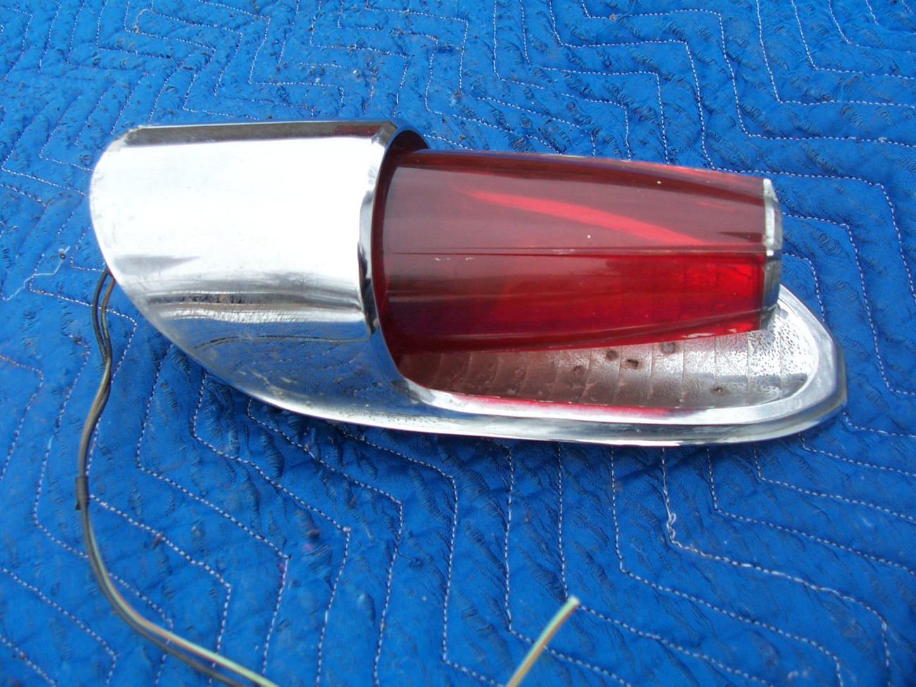 Primary image for 1962 MONTEREY LEFT TAILLIGHT OEM USED PITTED HOUSING BEZEL ORIGINAL MERCURY PART