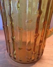 Vintage 70s Anchor Hocking tahiti bamboo pattern glass pitcher image 2