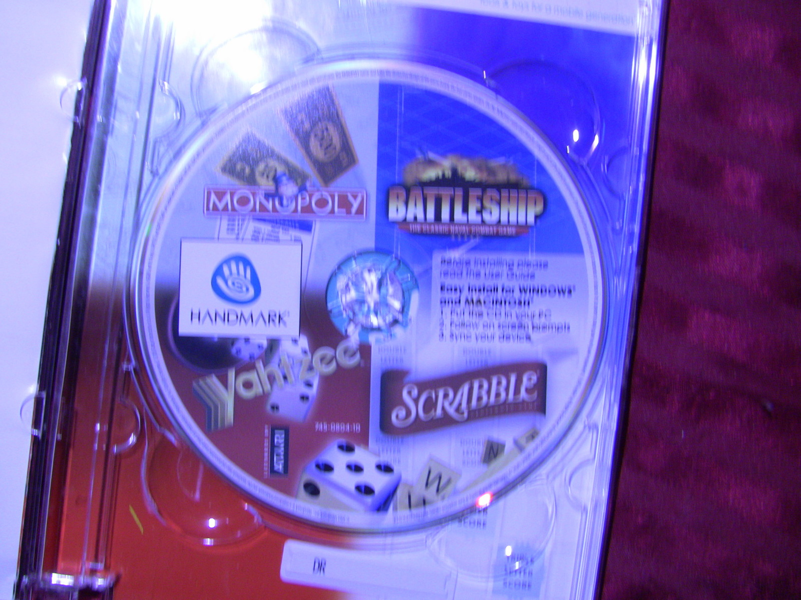 Monopoly/Scrabble/Battleship/Yahtzee Game Pack (Palm OS and Windows Pocket PC)