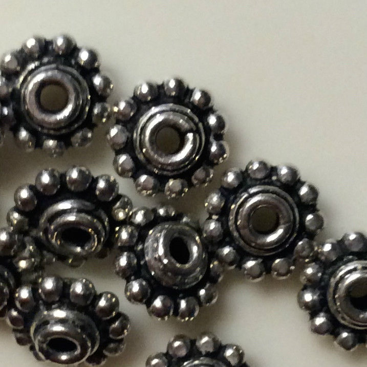 (4) NEW 925 Sterling Silver Bali Style Bead 7mm