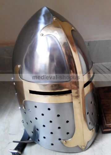 medieval sugarloaf helmet larp role-play Armour, europe and reenactment helmets