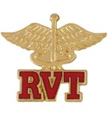 RVT Pin Registered Veterinary Technician Caduce... - $12.57