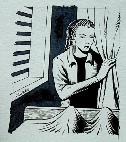 Steve Jackson Games Original RPG ART #15 Hospital Girl :artist FRED RAWLES
