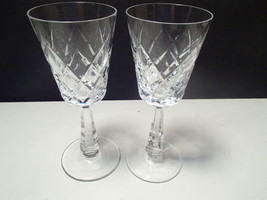 "2  Galway O'Brien  6 7/8"" Wine stems~~signed on bottom~~~~nice ones - $39.99"