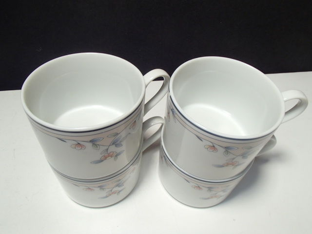 4 PRINCESS HOUSE HERITAGE BLOSSOM COFFEE CUPS