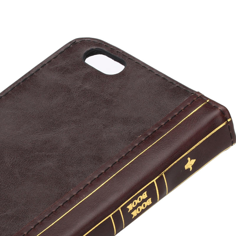 iPhone 5/5S Leather Horizontal Flip BOOK style Credit Card Slots wallet case