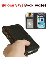 iPhone 5/5S Leather Horizontal Flip BOOK style Credit Card Slots wallet ... - $16.99