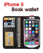 iPhone 6 Leather Horizontal Flip BOOK style wallet case - $16.99