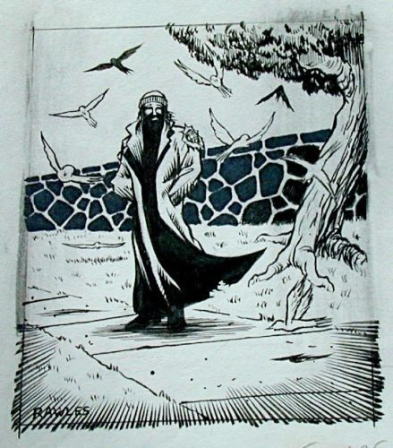 Wizards of the Coast Original ART #13 Pigeon-Man 1/2 :artist FRED RAWLES