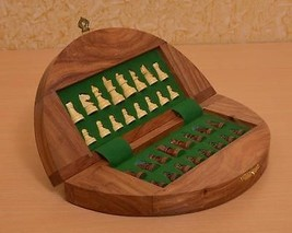 "Travel Series Wooden Folding Magnetic Chess Set in Sheesham Wood 9"" Board- M0006 - $73.99"