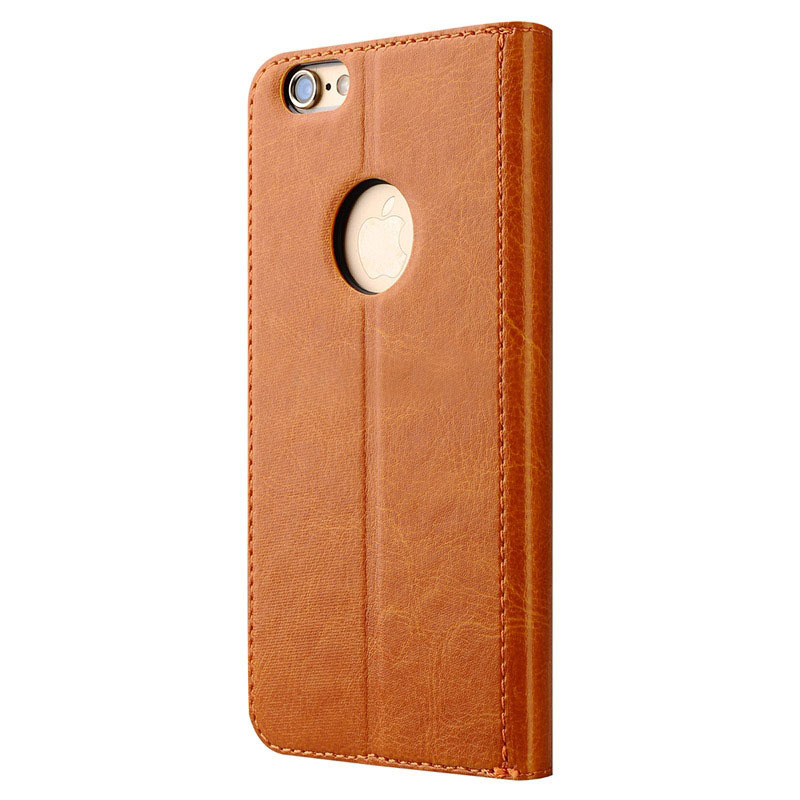 iPhone 6 Patern Genuine Leather Protective Case with Holder and Card Slot