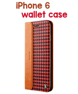 iPhone 6 Patern Genuine Leather Protective Case with Holder and Card Slot  - $25.32