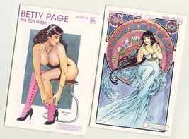 BETTY PAGE the 50's RAGE #2A and RARE 2B+Signed~~Buy from the Publisher ... - $18.76