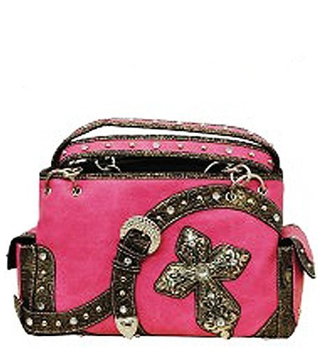 Pink Western Buckle & Cross Conceal and Carry Purse [Apparel]