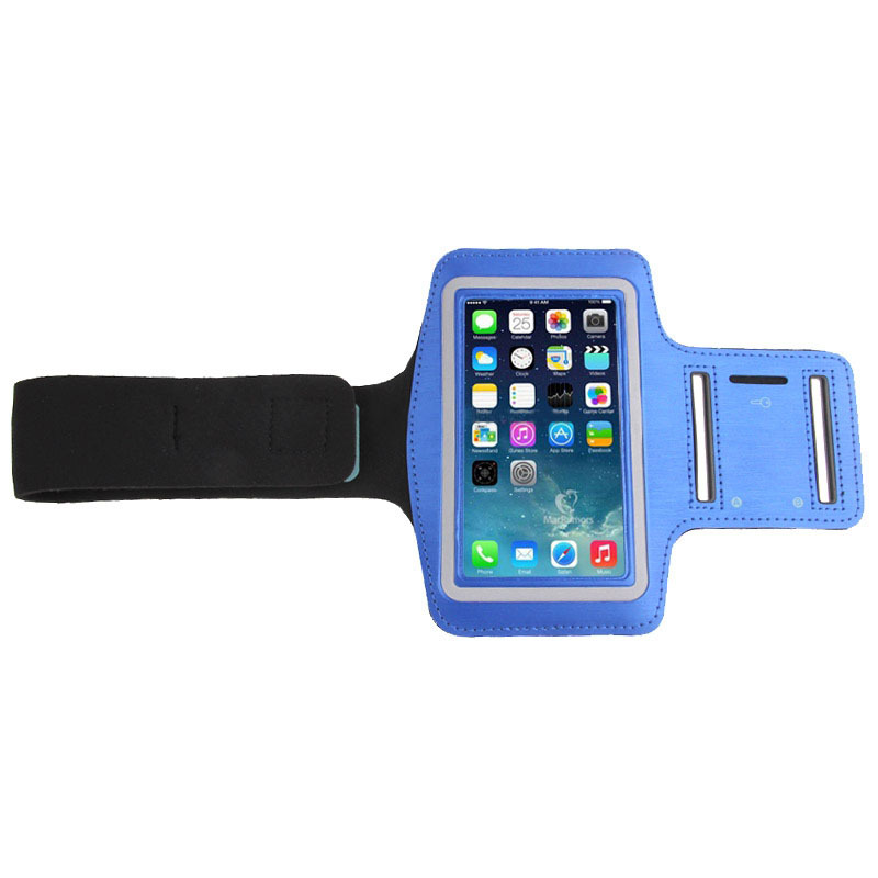 iPhone 6 Samsung Galaxy S4/S5/S3 Universal PU Sports Armband Case with Earphone