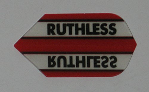 1 sets (3 flights) Xtra Strong Ruthless Slim Red flights