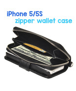 iPhone 5 and 5S Zipper Coin money Wallet Leather Case with Lanyard - $19.76