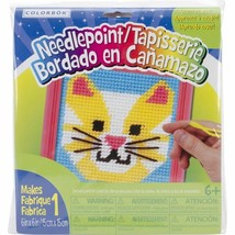 Cat Learn To Sew Needlepoint Kit - $4.85