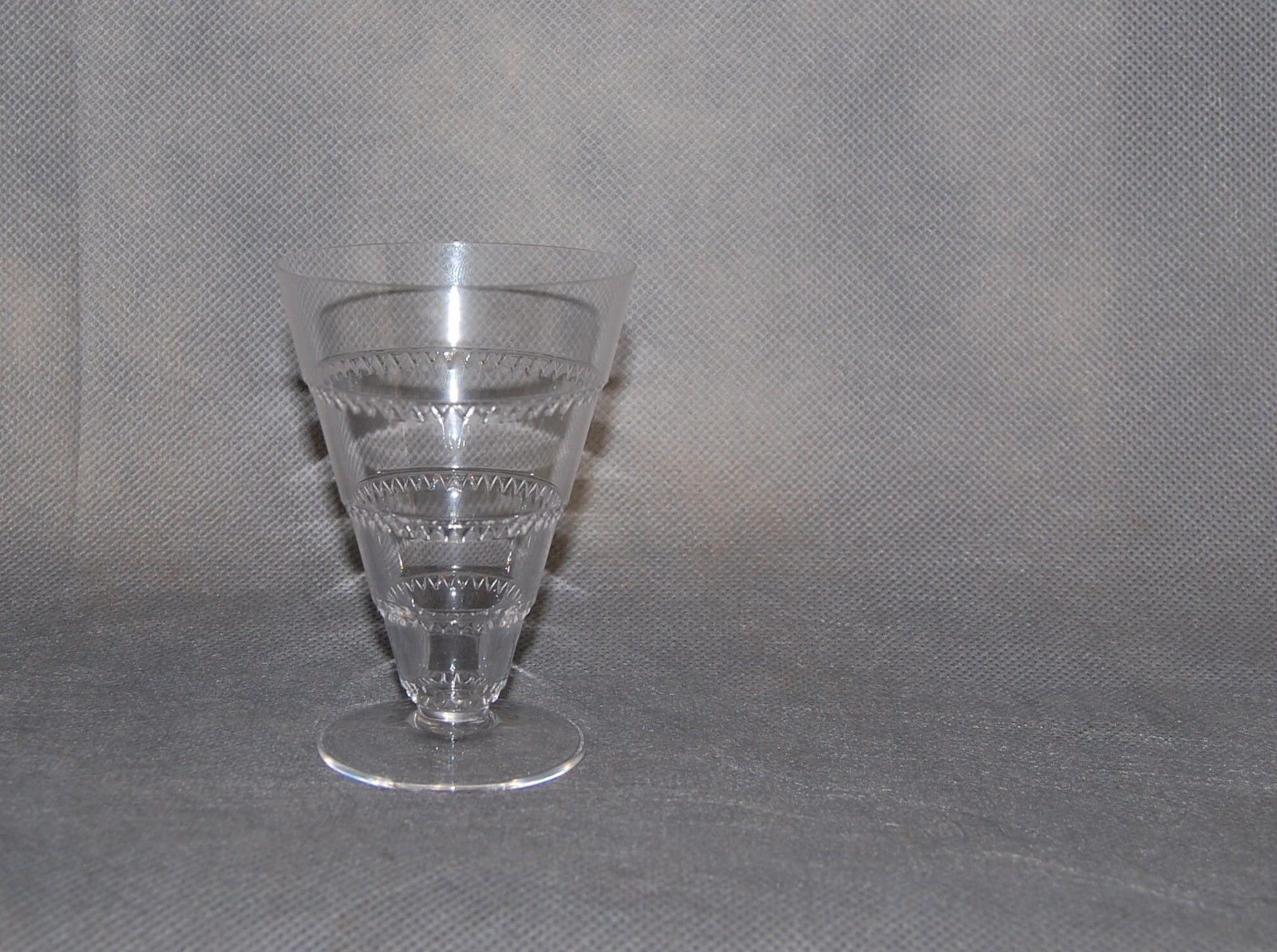 """Lalique France Crystal Vouvray Pattern Small Cordial Glass 2 1/2"""" High"""