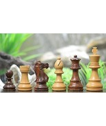 Handcarved Weighted Chess Set in Shesham Wood 4 Queens - SKU: M0013 - $110.99