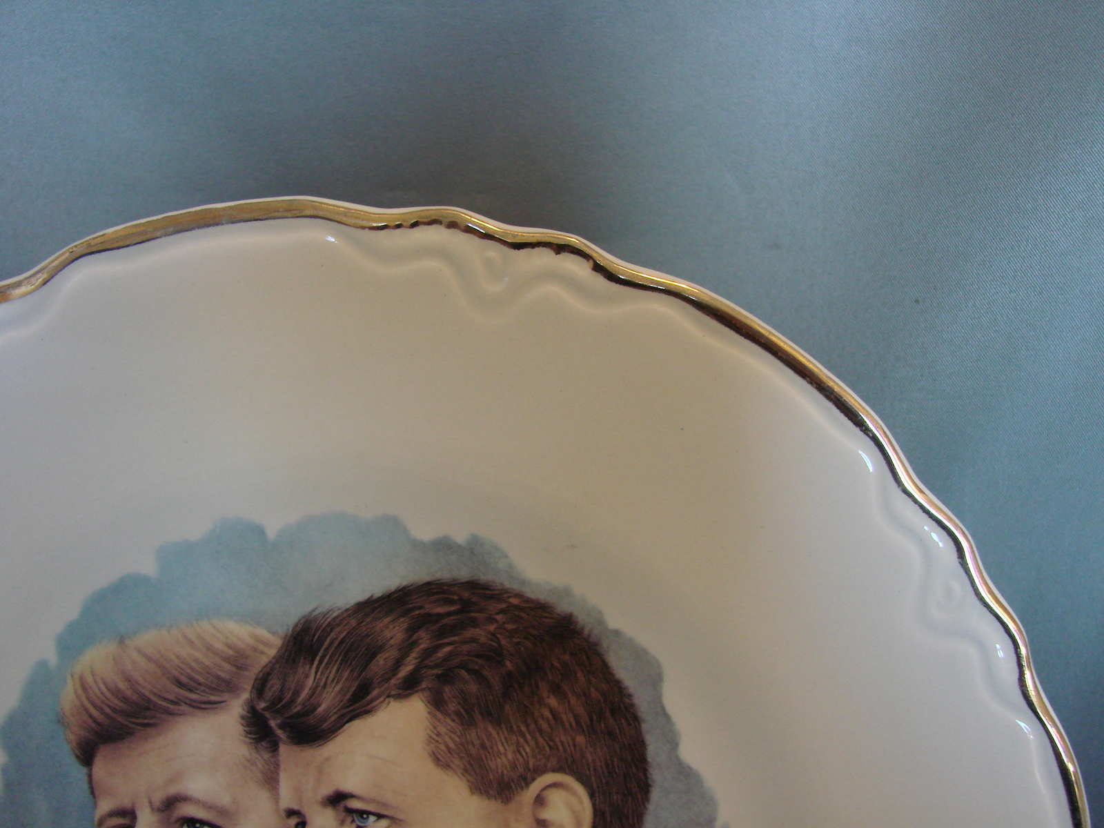 """Vintage John F. Kennedy and Robert F. Kennedy Collector Plate 9 1/4"""""""