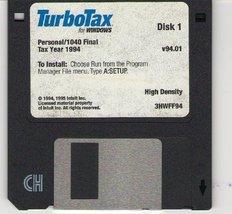 Turbotax for Windows 1994 (Personal) [CD-ROM] Windows 3.x - $19.79