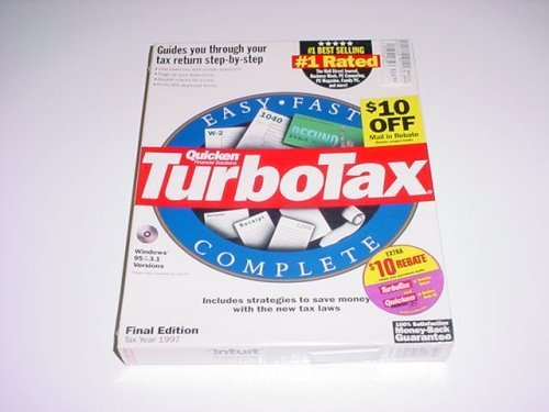 TurboTax Deluxe for Windows - Tax Year 1997 [CD-ROM] Windows