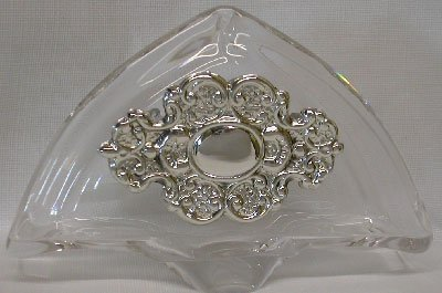 Crystal & Sterling Silver Napkin Holder