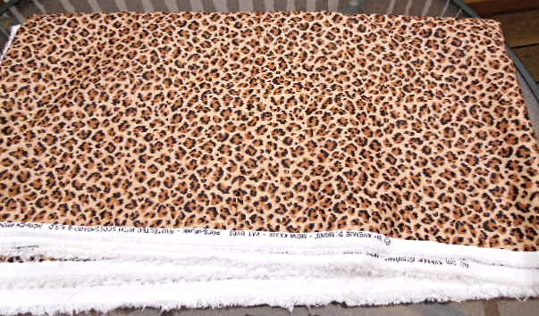 """2 7/8 yards of 56"""" Wide Leopard Print Fabric 5th Avenue Designs #5051"""