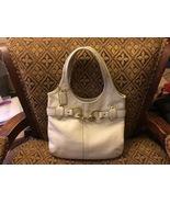 Vintage COACH Legacy Chalk White Leather Handbag (No. E0793-11266) - $100.00
